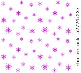 Snowflakes Seamless Pattern On...