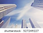 color toned photo of chicago... | Shutterstock . vector #527249227