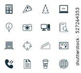 set of 16 universal editable... | Shutterstock .eps vector #527264353