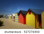 colourful  boxes at brighton... | Shutterstock . vector #527276503