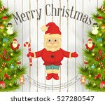 christmas and new year card.... | Shutterstock .eps vector #527280547
