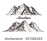 mountains sketch. hand drawn... | Shutterstock .eps vector #527282323
