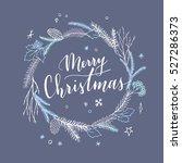 vector hand drawn christmas... | Shutterstock .eps vector #527286373