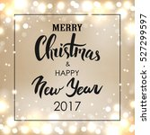 merry christmas   happy new... | Shutterstock .eps vector #527299597