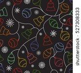 christmas pattern | Shutterstock .eps vector #527308333