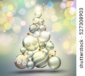 christmas. background with... | Shutterstock .eps vector #527308903