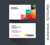 vector business card template... | Shutterstock .eps vector #527311903
