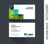 vector business card template... | Shutterstock .eps vector #527312083