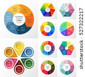 vector circle infographic set.... | Shutterstock .eps vector #527322217