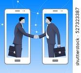 internet deal business concept. ... | Shutterstock .eps vector #527323387