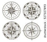 vintage nautical compass signs... | Shutterstock .eps vector #527327893