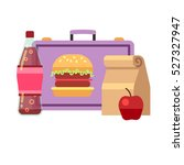 healthy school lunch  student... | Shutterstock .eps vector #527327947