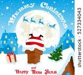 merry christmas banner.... | Shutterstock .eps vector #527334043