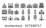 a set of various houses and... | Shutterstock .eps vector #527338717
