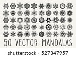 set of ornate lacy doodle... | Shutterstock .eps vector #527347957