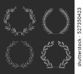 vector set of hand drawn ... | Shutterstock .eps vector #527350423