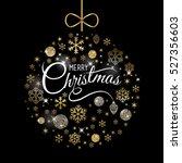 elegant christmas card  ball... | Shutterstock .eps vector #527356603