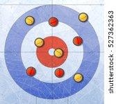 sport. curling stones on ice.... | Shutterstock .eps vector #527362363