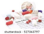 assorted pills and capsules... | Shutterstock . vector #527363797