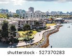 Stock photo photo of false creek and downtown vancouver in vancouver canada 527370283