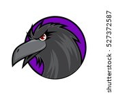 crow head on purple background | Shutterstock .eps vector #527372587