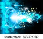 future technology  blue cyber... | Shutterstock .eps vector #527375707