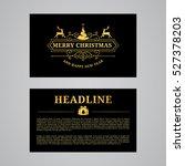 christmas greeting card design. ... | Shutterstock .eps vector #527378203