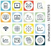 set of 16 universal editable... | Shutterstock .eps vector #527378593