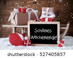 sleigh with gifts  snow ... | Shutterstock . vector #527405857