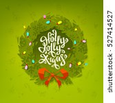 christmas wreath and creative... | Shutterstock .eps vector #527414527