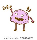 smart clever glad  brain trying ... | Shutterstock .eps vector #527416423