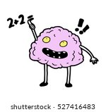 smart clever glad  brain trying ... | Shutterstock .eps vector #527416483