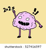 smart clever glad  brain trying ... | Shutterstock . vector #527416597