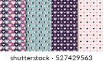 set of 4 elegant seamless... | Shutterstock .eps vector #527429563