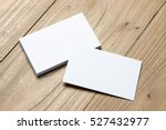 business card on wood | Shutterstock . vector #527432977