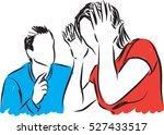 man and woman couple fighting... | Shutterstock .eps vector #527433517