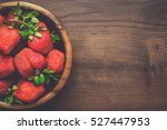 wooden bowl full of fresh... | Shutterstock . vector #527447953