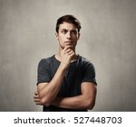 thinking man | Shutterstock . vector #527448703