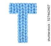 letter t alphabet on a blurry... | Shutterstock . vector #527462407