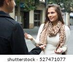attractive brunette girl... | Shutterstock . vector #527471077