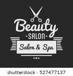 vintage barber shop logo and... | Shutterstock .eps vector #527477137