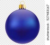 Blue Christmas Ball Isolated O...