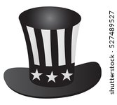 uncle sam's hat 4th july... | Shutterstock .eps vector #527489527