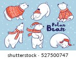Cute Hand Drawn Polar Bear Set...