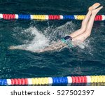 people with splashes of dives... | Shutterstock . vector #527502397