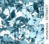 tropical pattern monochrome...   Shutterstock . vector #527506477