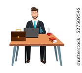 business person sitting in... | Shutterstock .eps vector #527509543