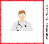doctor icon vector illustration ... | Shutterstock .eps vector #527538577