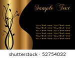 sample text gold and black | Shutterstock .eps vector #52754032