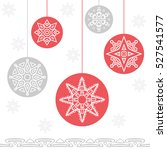 christmas background with... | Shutterstock .eps vector #527541577
